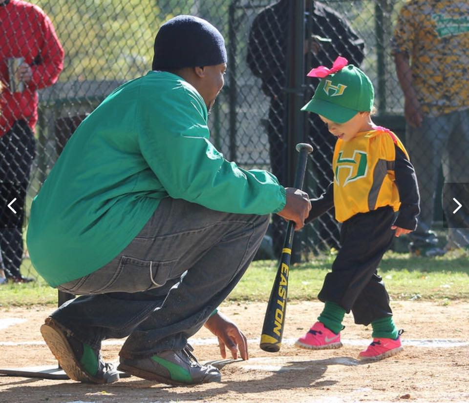 Ray and Emme Playing Tball